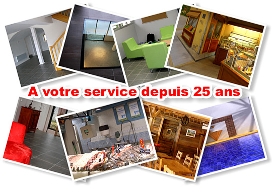 Vente, pose, traitement de carrelages, dallages.